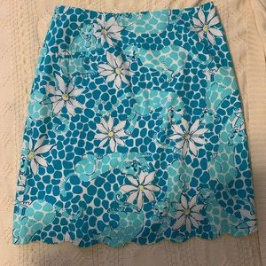 Lilly Pulitzer Leopard Daisy Skirt
